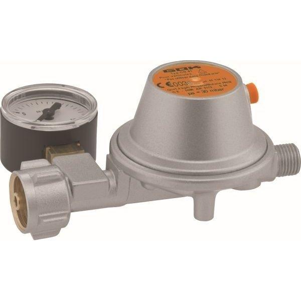 Gasdruckregler GOK 50 mbar 1,5 kg/h CH mit Sicherheits Abblaseventil mit Manometer