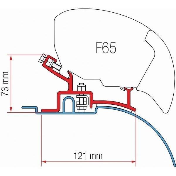 Adapter FIAMMA Fiat Ducato Citroen Jumper mit hohem Profil für F80 F65