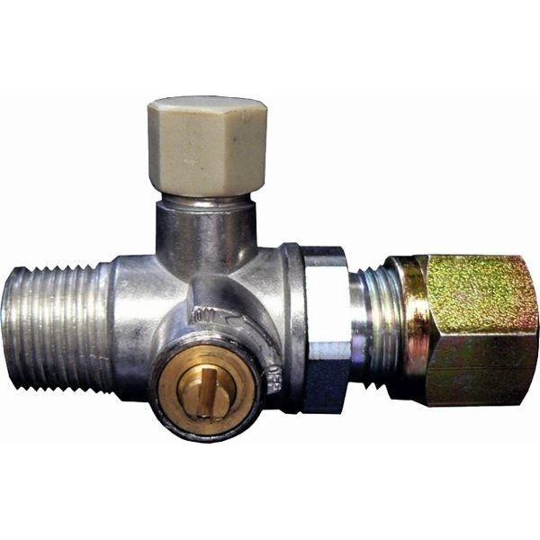 Prüfventil mit Absperreinrichtung für 8 mm Anlagen