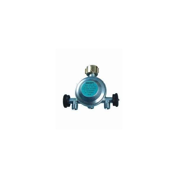 Gasdruckregler 50 mbar mit 2 Abgängen