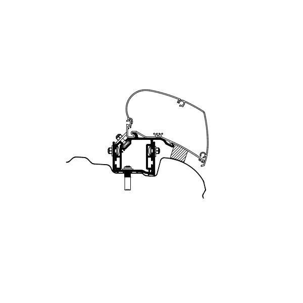Adapter THULE Omnistor VW Crafter H3 ab Modelljahr 2017 für Dachmontage