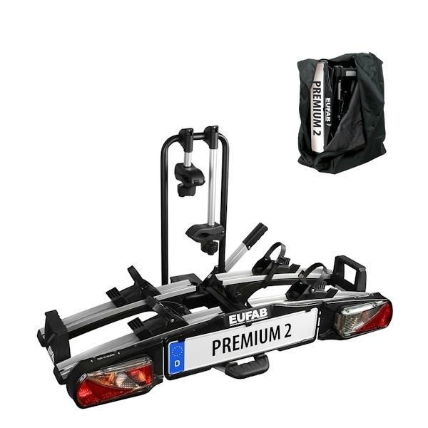 Fahrradträger EUFAB Premium II 11521 faltbar mit Tasche 2 er - B-WARE - 2. WAHL