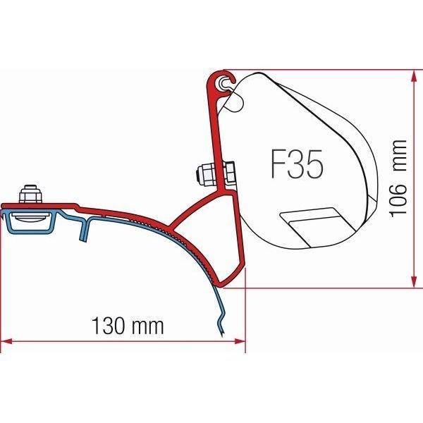 Adapter FIAMMA Kit VW T5 T6 Multivan Transporter mit C-Schiene für F35
