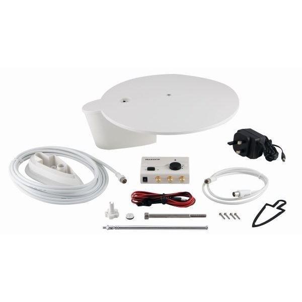 Rundum Antenne MAXVIEW Gazelle Pro 12/24/230 V weiß