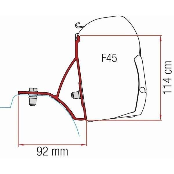 Adapter FIAMMA Kit Renault Trafic ab Modelljahr 2015 für F45 F70 ZIP
