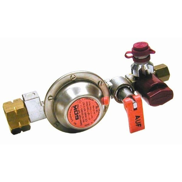 Gasdruckregler GOK Tankregler 50 mbar GF auf 8 mm RVS