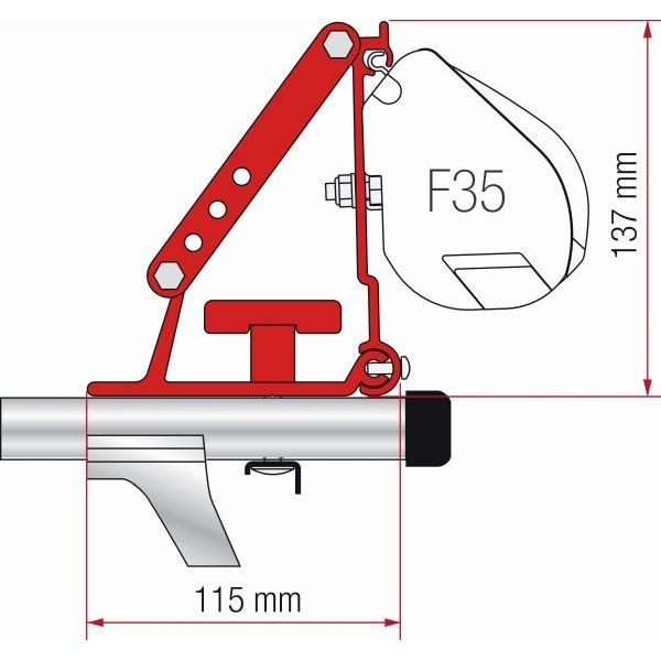 Adapter FIAMMA Kit Auto Dachträger für F35 Compass