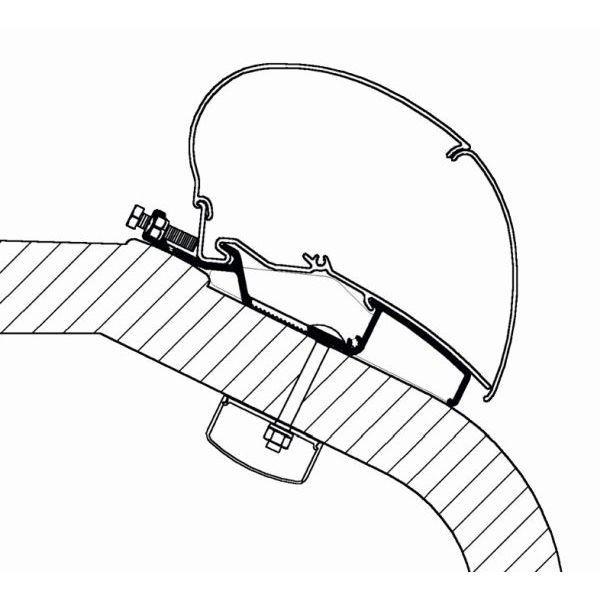 Adapter THULE Omnistor LMC Liberty TEC 550 cm für Dachmontage