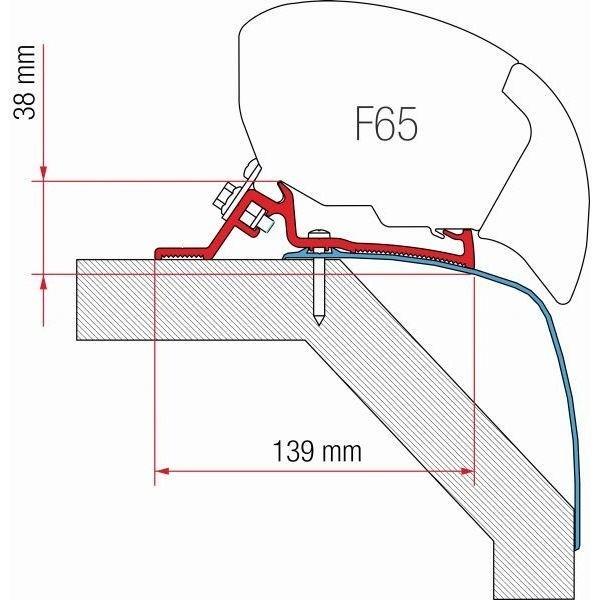 Adapter FIAMMA Kit Laika Rexosline Kreos 09 für F80 F65