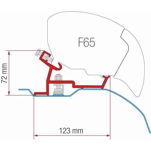 Adapter FIAMMA Fiat Ducato Jumper High Roof X250 ab 370 cm für F80 F65