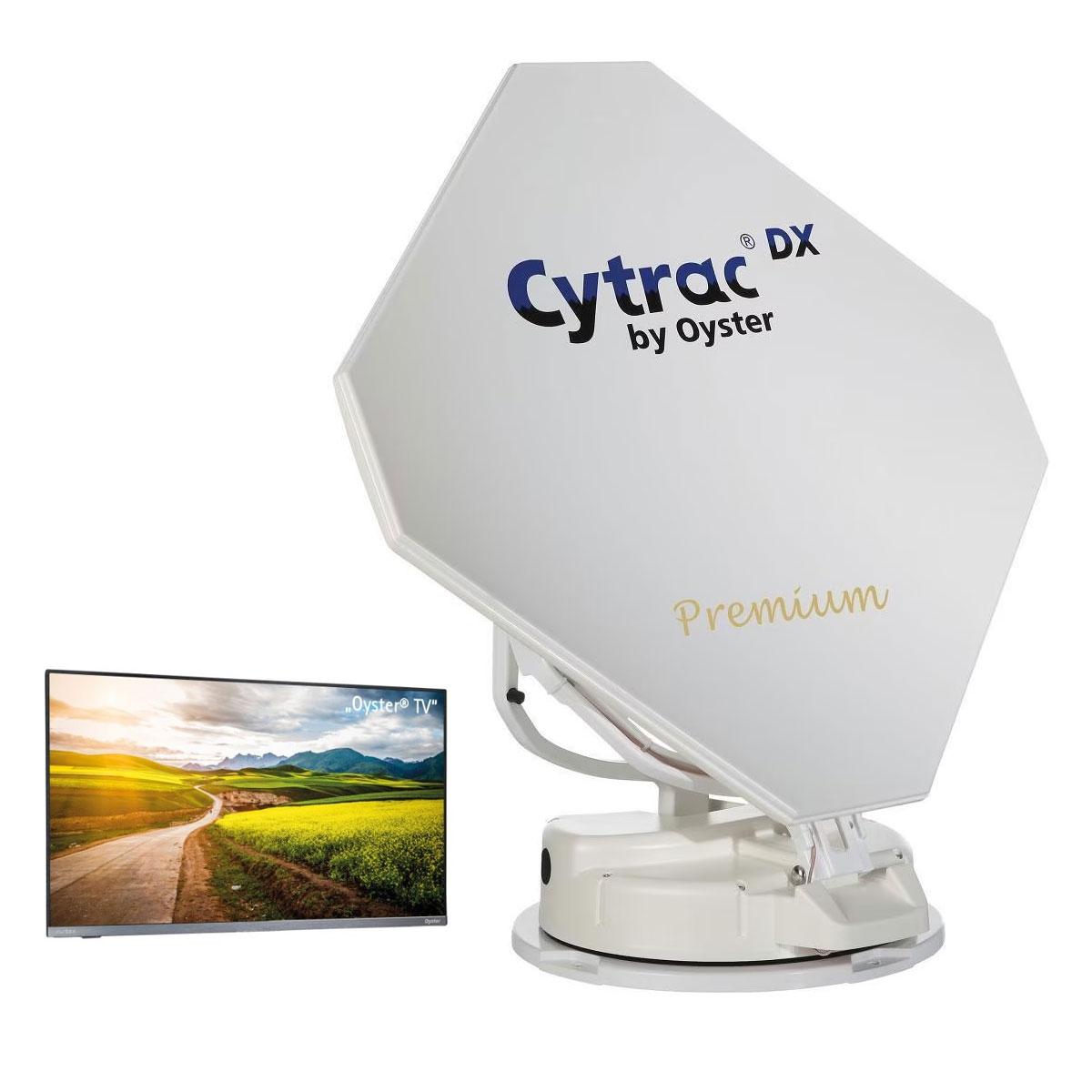 Automatische Sat Anlage CYTRAC DX Premium Single LNB mit TV Gerät 21,5