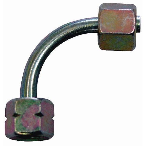 Gas Verbindungs Verschraubung winkel ¼ lks. Überwurf- auf 8 mm Überwurfmutter