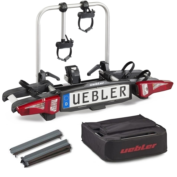 UEBLER i21 Fahrradträger 15930 2 Räder mit 90° Abklappung inkl. Tasche und Auffahrschiene