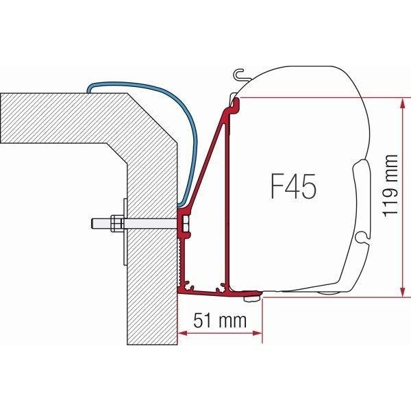 Adapter FIAMMA Rapido Serie 6 350 cm für F45 F70 ZIP