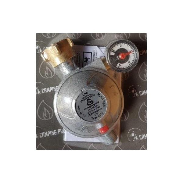 Gasdruckregler TGO 30 mbar Sicherheits Abblaseventil mit Manometer 0,8 kg/h