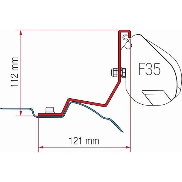 Adapter FIAMMA Kit Mercedes Viano Vito für F35