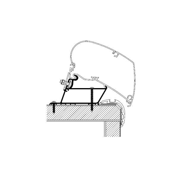 Adapter THULE OMNISTOR Carthago Malibu 450 cm für Dachmontage