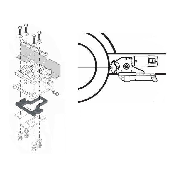 ENDURO Adapter 90400 Distanzplatten Spacer 15 mm für Rangierhilfe