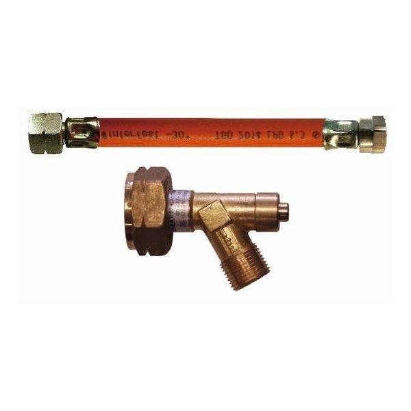 Hochdruck Gasschlauch TGO 45 cm mit Schlauchbruchsicherung