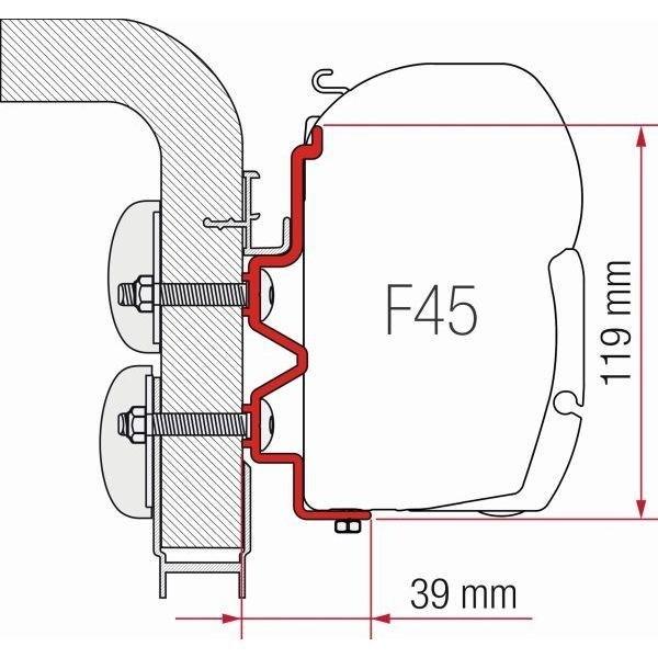 Adapter FIAMMA Kit Hymer Camp für F45 F70 ZIP