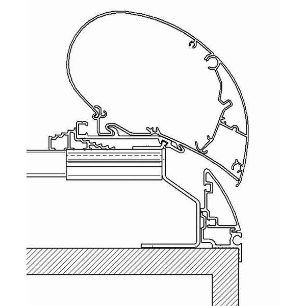 Adapter THULE OMNISTOR Fendt Brillant bis 450 cm für Dachmontage