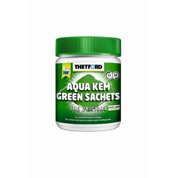 Sanitärzusatz THETFORD Aqua Kem Green Sachets 15 Stück Dose