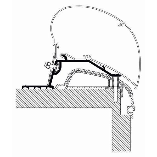 Adapter THULE Omnistor Hobby Premium Ontour ab Modelljahr 2012 für Dachmontage