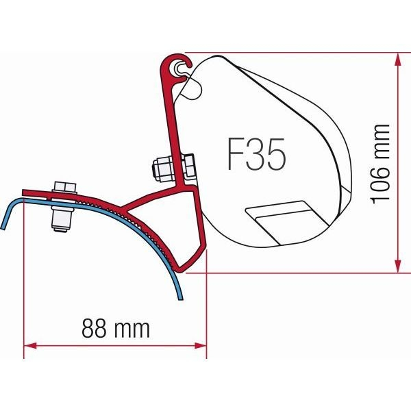 Adapter FIAMMA Kit Renault Trafic Opel Vivaro für F35