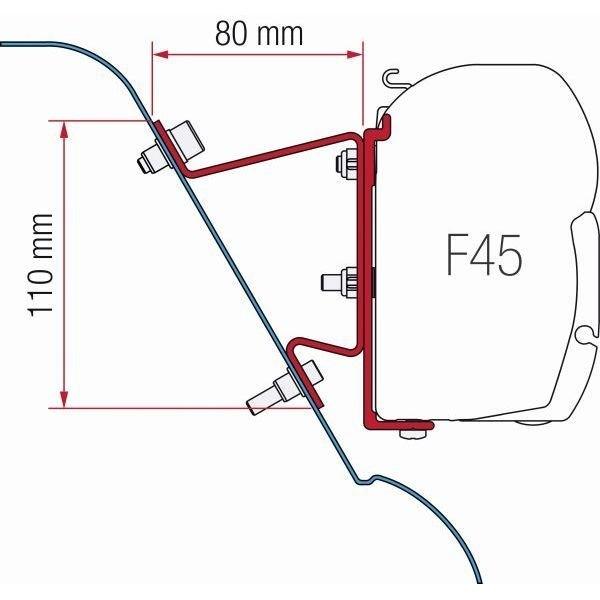 Adapter FIAMMA Kit Mercedes Sprinter H3 VW Crafter H3 für F45 F70 ZIP