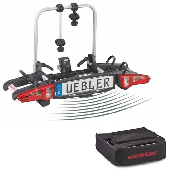 UEBLER i21 Fahrradträger 15900DC 2 Räder Rückfahrkontrolle inkl. Tasche