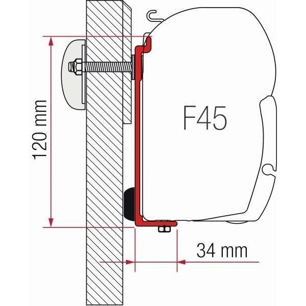 Adapter FIAMMA Kit Chausson Allegro Challenger Eden F45 F70 ZIP