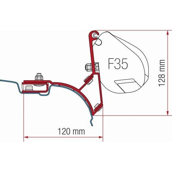 Adapter FIAMMA Kit VW T5 T6 Multivan Transporter ohne C-Schiene für F35