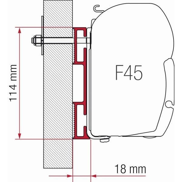 Adapter FIAMMA Kit D 8 cm F45 F70 ZIP