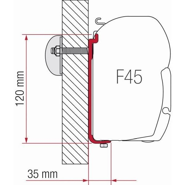 Adapter FIAMMA Kit AS 120 für F45 ZIP