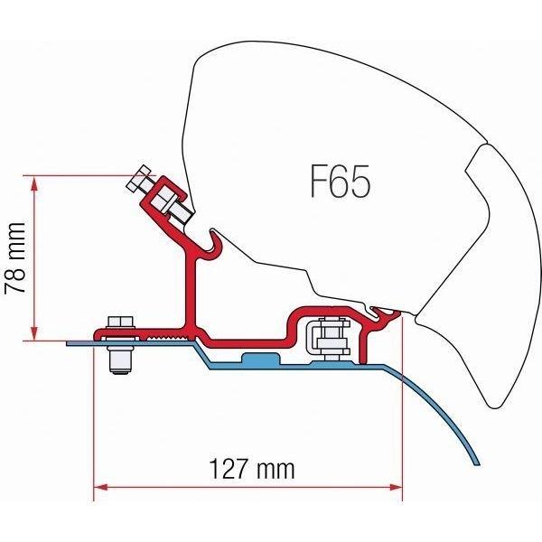 Adapter FIAMMA Fiat Ducato Citroen Jumper H3 für F80 F65  - B-WARE - 2. WAHL