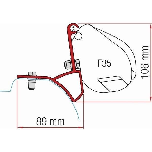 Adapter Kit FIAMMA Renault Trafic ab Modelljahr 2014 für F35
