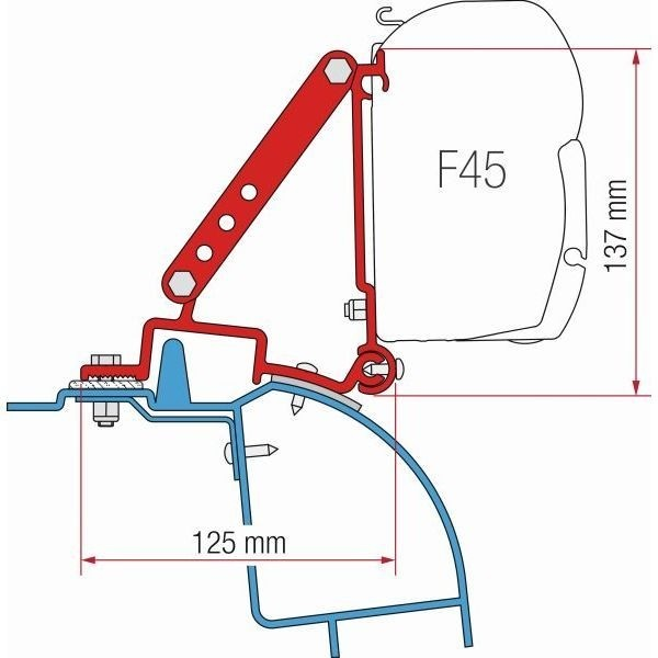 Adapter FIAMMA Kit Renault Master H2 > Bj. 1998 für F45 F70 ZIP