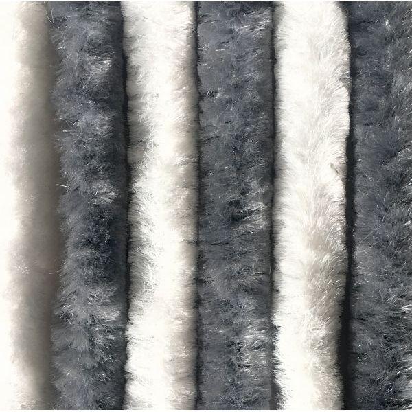 Türvorhang ARISOL Chenille Flauschvorhang 56 x 185 cm grau-weiß