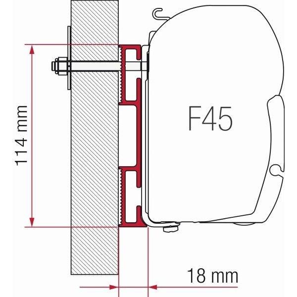 Adapter FIAMMA Kit D 12 cm F45 F70 ZIP