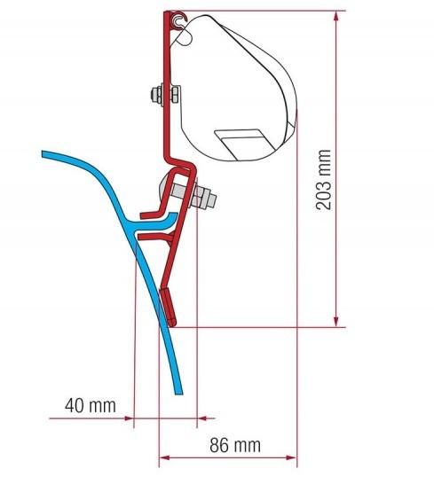 Adapter Kit FIAMMA VW T3 für F35
