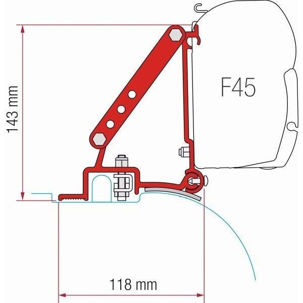 Adapter FIAMMA Kit Fiat Ducato Jumper bis Modelljahr 2006 für F45 F70 ZIP