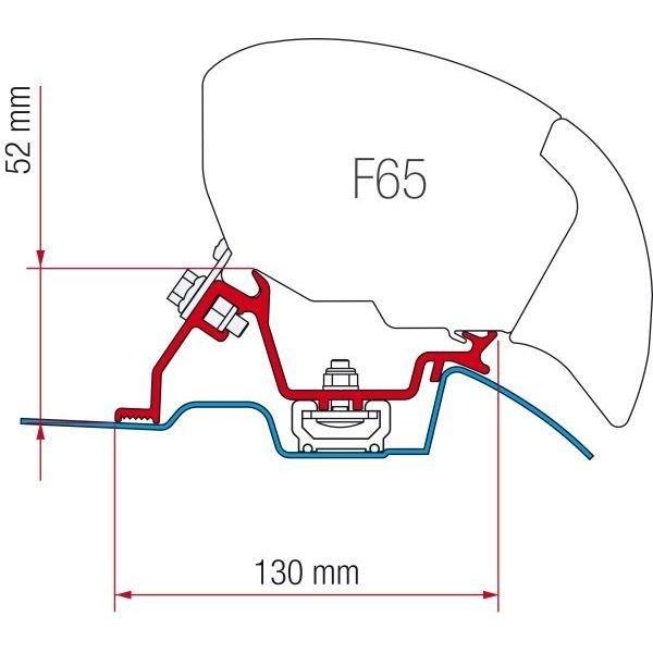 Adapter FIAMMA Kit Mercedes Sprinter Roof Rail ab Modelljahr 2006 für F80 F65