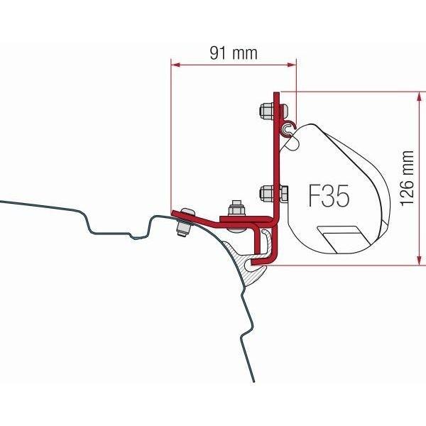 Adapter FIAMMA Kit VW T5 T6 Multirail Reimo für F35
