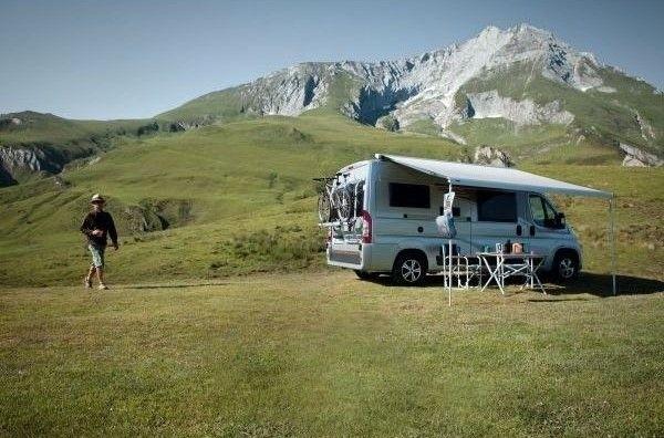 Markise THULE Omnistor 6300 Paket Fiat Ducato 375 cm eloxiert Endkappen grey