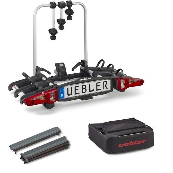 UEBLER i31 Fahrradträger 15910DC 3 Räder faltbar Rückfahrkontrolle inkl. Tasche Auffahrschiene