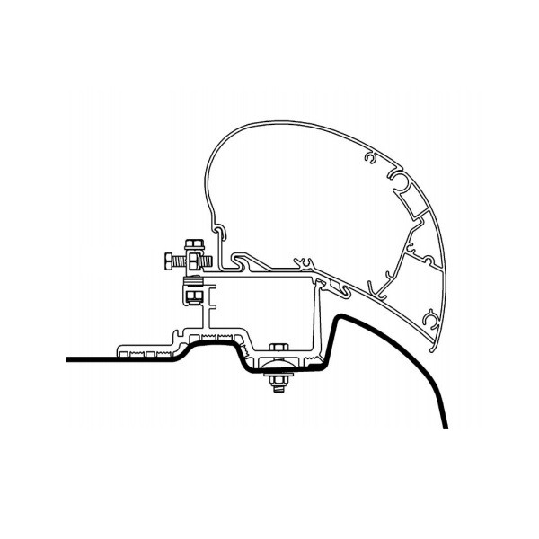 Adapter THULE Omnistor Mercedes Sprinter VW Crafter für Dachmontage