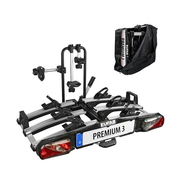 Fahrradträger EUFAB Premium III 11522 faltbar mit Tasche 3 er