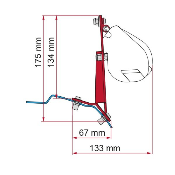 Adapter FIAMMA Kit Ford Custom für F45 F70 ZIP