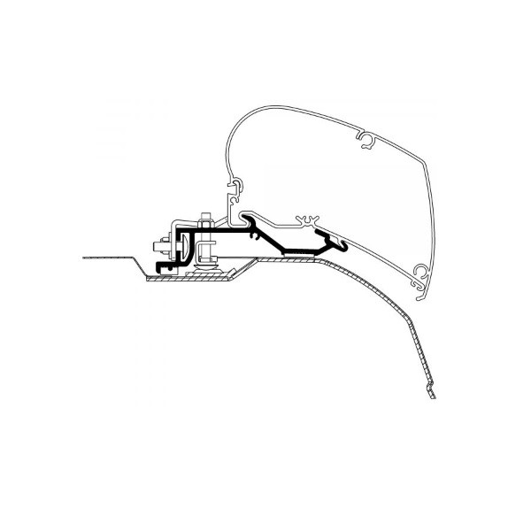 Adapter THULE OMNISTOR Fiat Ducato ab Modelljahr 2006 375 - 400 cm für Dachmontage