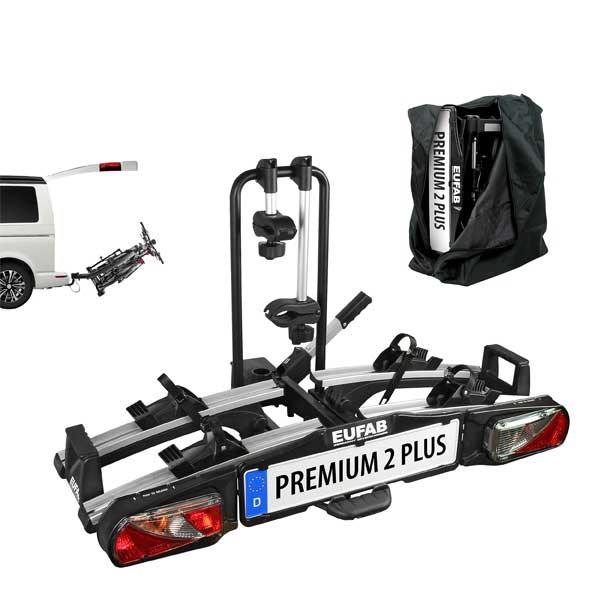Fahrradträger EUFAB Premium II PLUS 11523 faltbar mit Tasche 2 er
